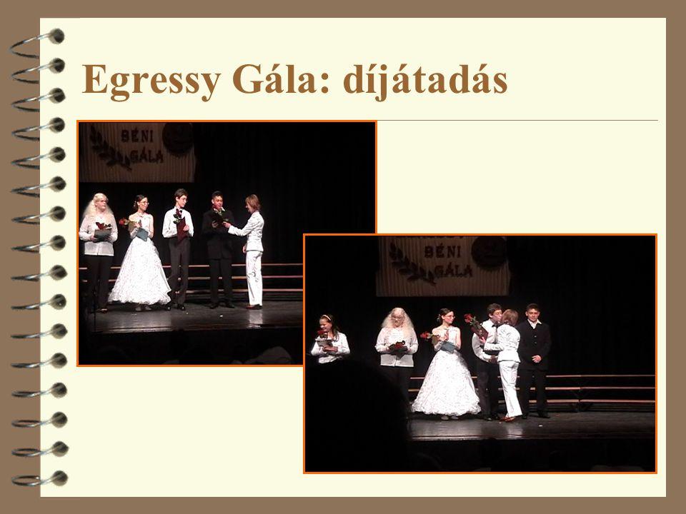 Egressy Gála: díjátadás
