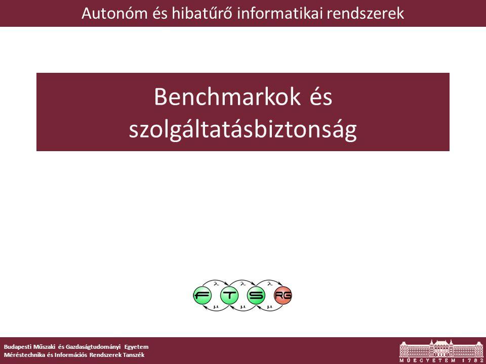 1 Budapesti Műszaki és Gazdaságtudományi Egyetem Méréstechnika és Információs Rendszerek Tanszék Benchmarkok és szolgáltatásbiztonság Autonóm és hibatűrő informatikai rendszerek