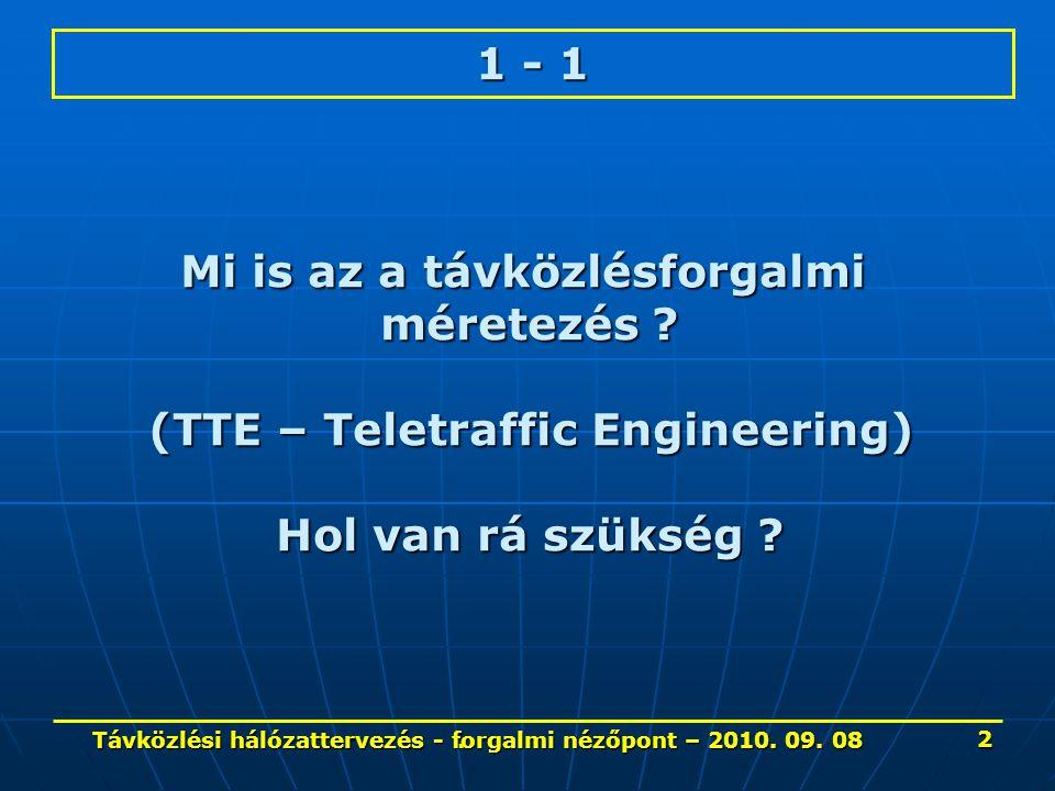 Telefon forgalom jellemzői – 9.