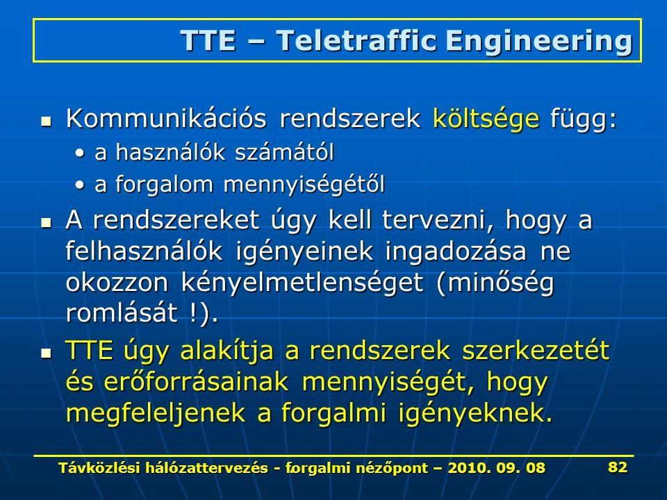 . Kommunikációs rendszerek költsége függ: Kommunikációs rendszerek költsége függ: a használók számátóla használók számától a forgalom mennyiségétőla f