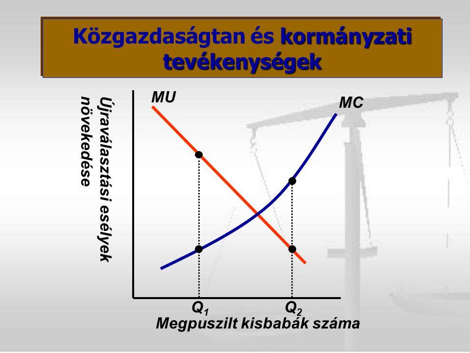 Újraválasztási esélyeknövekedése Megpuszilt kisbabák száma MUMU MC Q1Q1 Q2Q2 kormányzati tevékenységek Közgazdaságtan és kormányzati tevékenységek