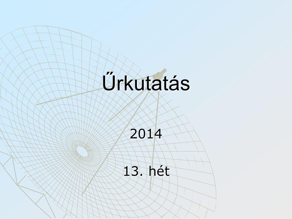 Űrkutatás 2014 13. hét
