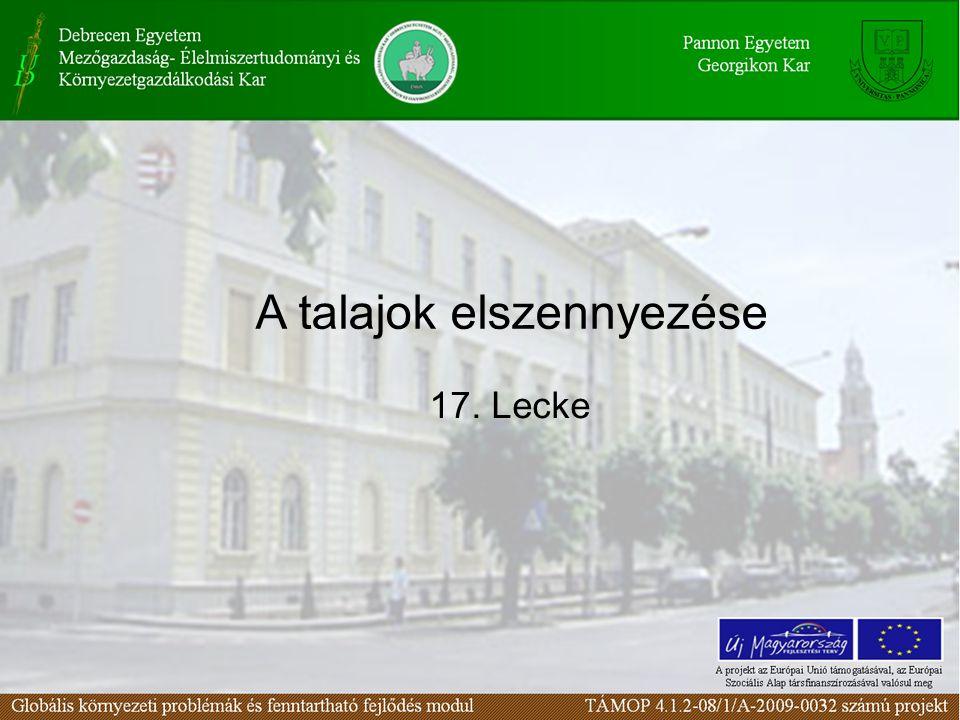 Kedvezőtlen adottságú területek Magyarországon (millió hektár) Vízerózió által veszélyeztetett lejtős terület2,3 Szélerózió által veszélyeztetett terület1,4 Savanyú talajok2,3 Szikes talajok0,56 Másodlagos szikesedéstől veszélyeztetett terület0,40 Kedvezőtlen altalajú tömődött talajok1,2 Sekély termőrétegű talajok0,4 Forrás: Talajvédelem Magyarországon.
