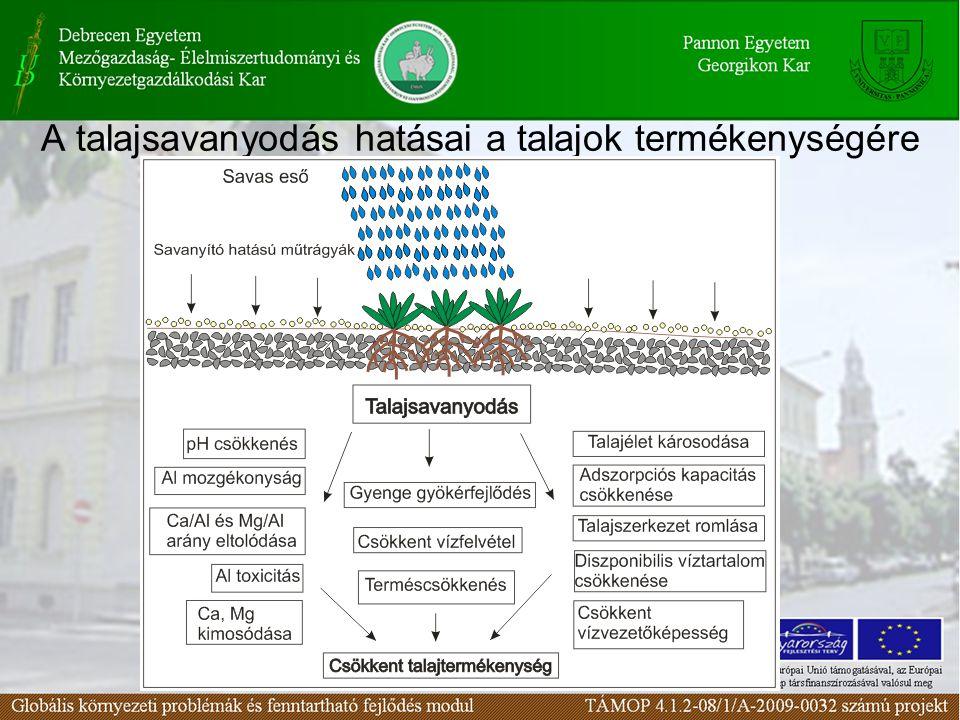 A talajsavanyodás hatásai a talajok termékenységére