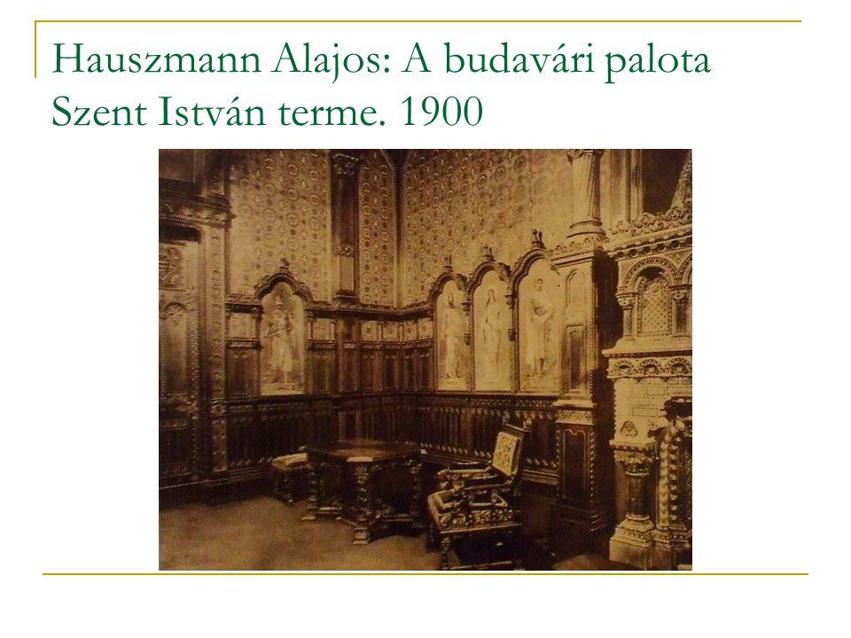 Hauszmann Alajos: A budavári palota Szent István terme. 1900