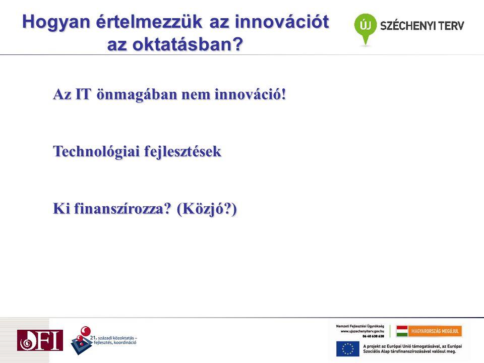 Technológiai fejlesztések Ki finanszírozza.