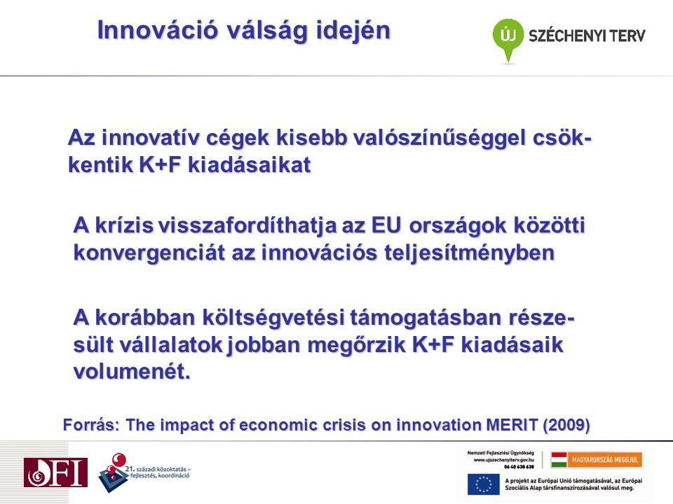 Segít az átstrukturálásban (kreatív rombolás) Pozícionál a fellendülés kihasználására Az innováció támogatásának nagy a társadalmi megtérülése (spillover hatások) Miért hasznos az innováció?