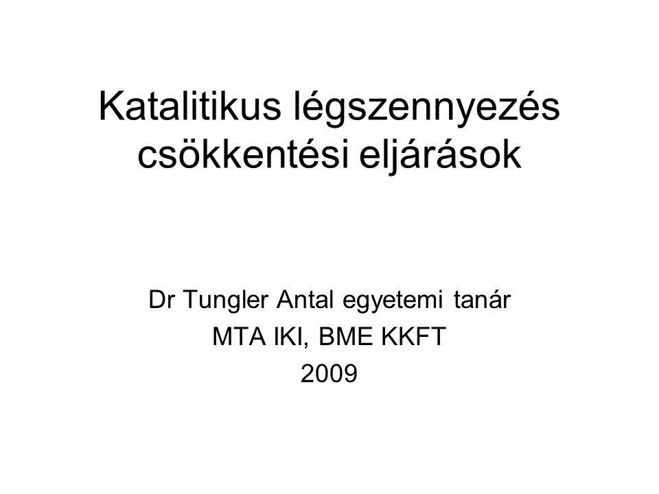 Katalitikus légszennyezés csökkentési eljárások Dr Tungler Antal egyetemi tanár MTA IKI, BME KKFT 2009