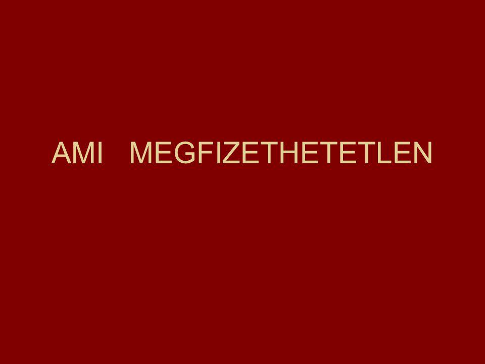 AMI MEGFIZETHETETLEN