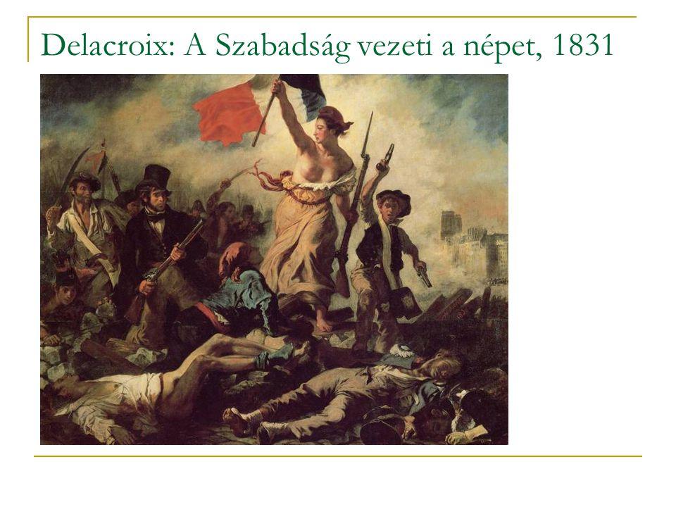 Delacroix: A Szabadság vezeti a népet, 1831