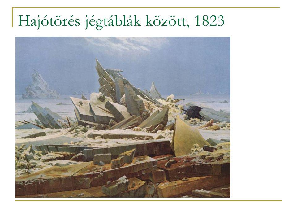Hajótörés jégtáblák között, 1823