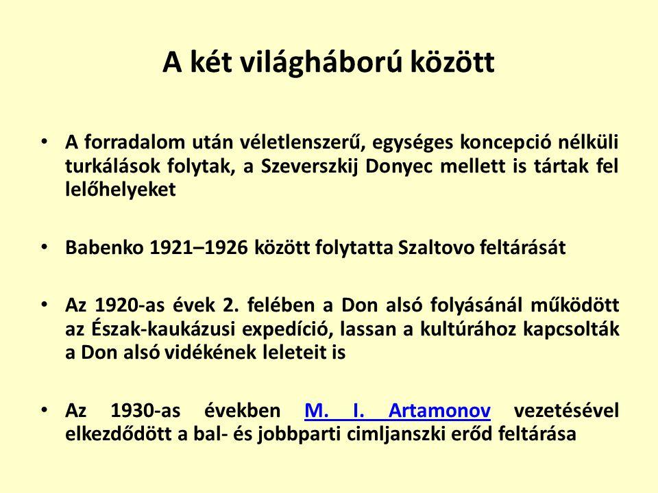 A két világháború között A forradalom után véletlenszerű, egységes koncepció nélküli turkálások folytak, a Szeverszkij Donyec mellett is tártak fel le