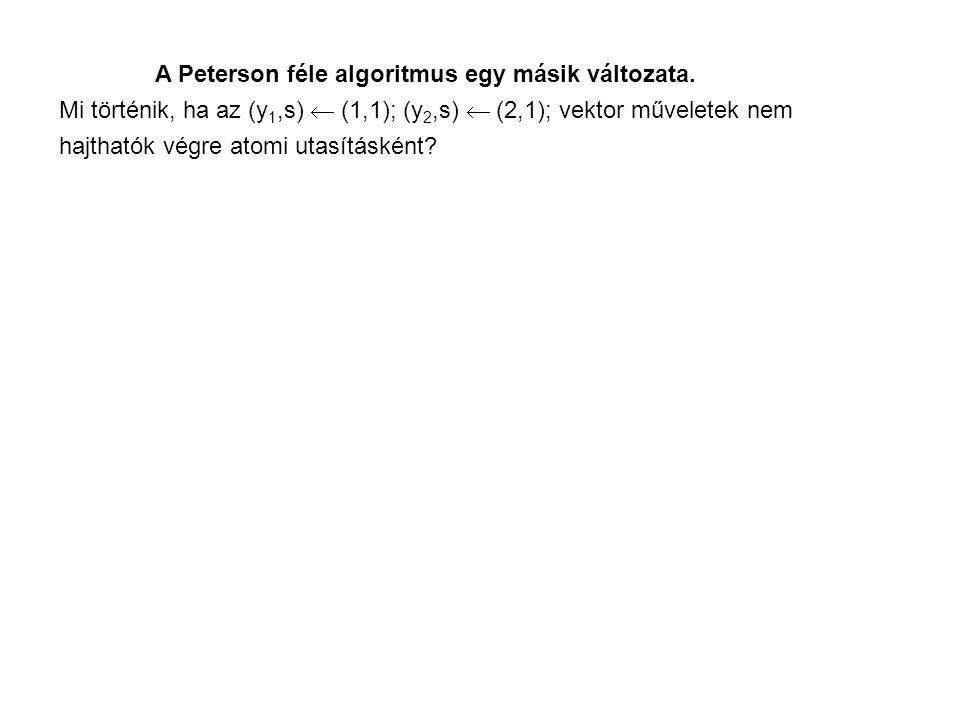 A Peterson féle algoritmus egy másik változata.