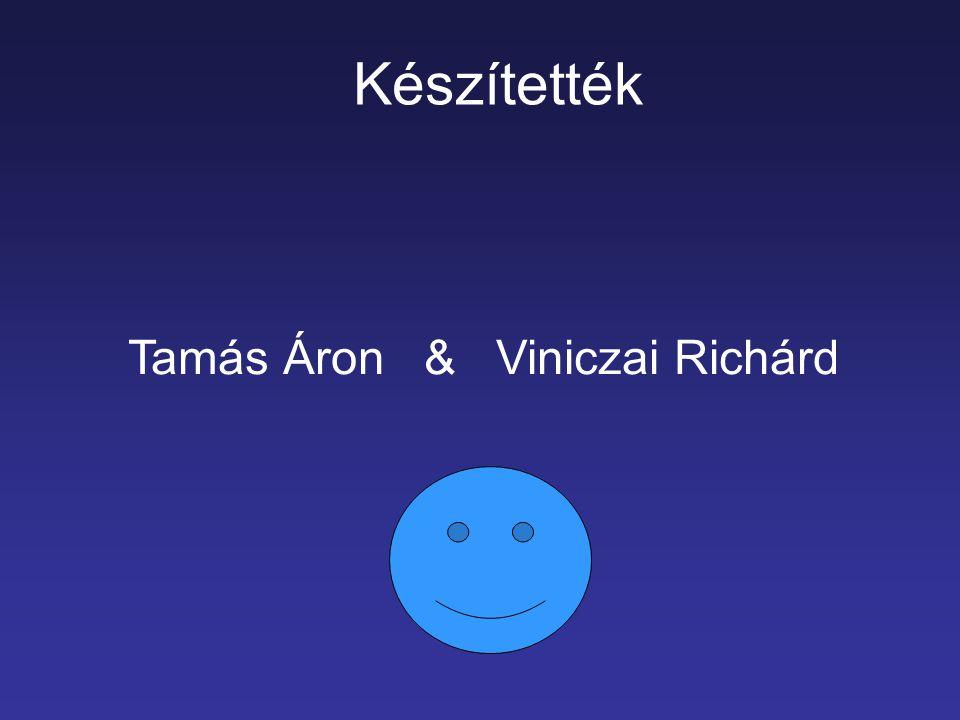 Készítették Tamás Áron & Viniczai Richárd