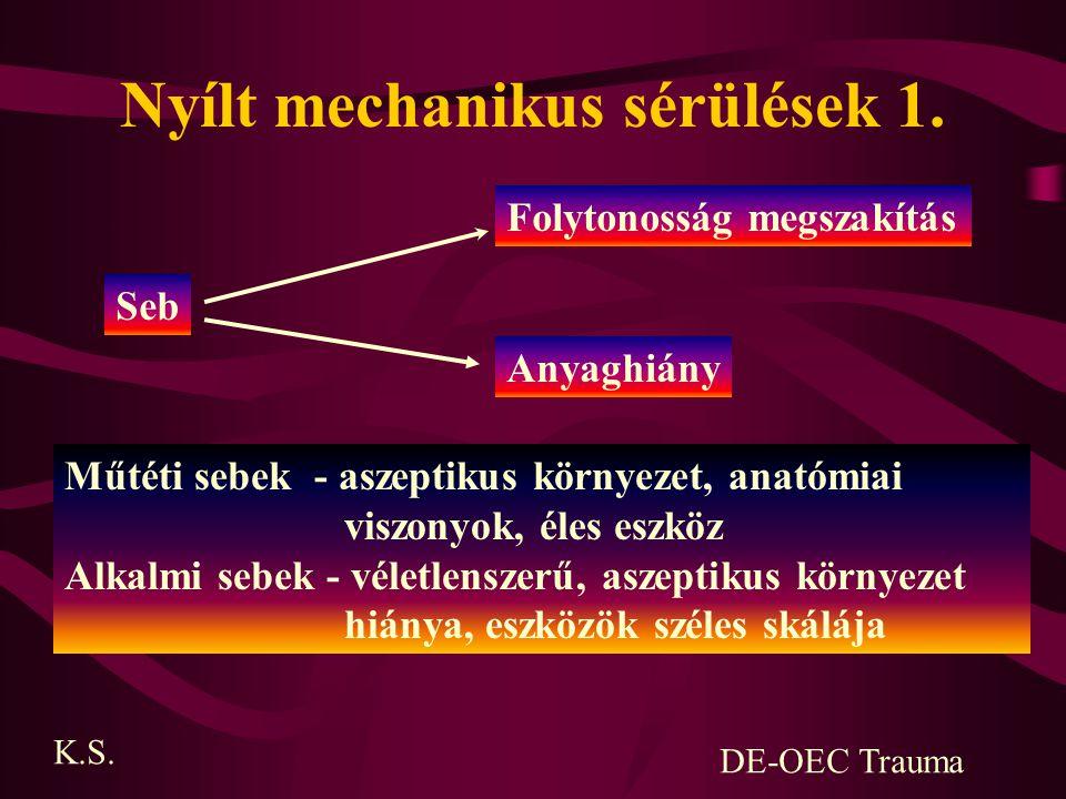 Ínsérülések diagnosztikája - anamnaesis (fájdalom, funkciókiesés, roppanás) - fizikális vizsgálat (Thompson-teszt) - képalkotó módszerek (UH, Rtg, CT, MRI) K.S.DE-OEC Trauma