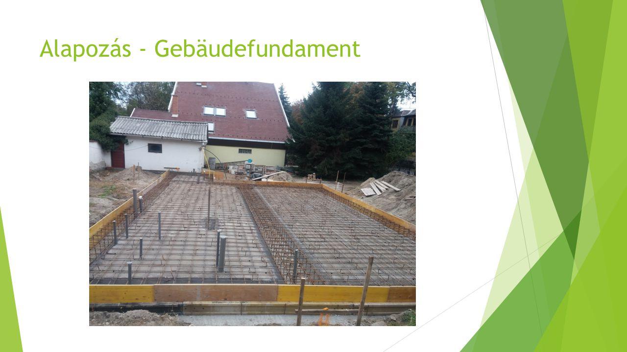 Alapozás - Gebäudefundament