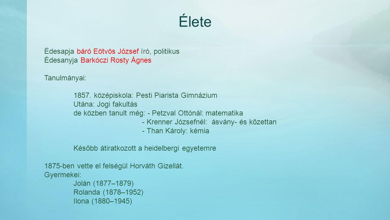 Élete 1870-ben doktorált 1883.Magyar Tudományos Akadémia tagja lett 1891.