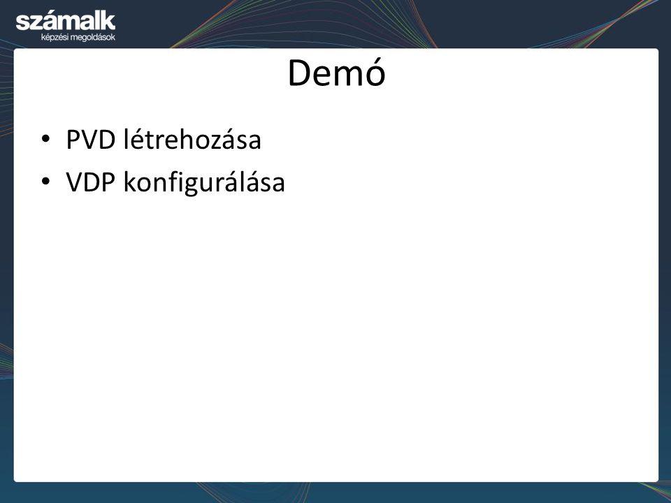 Demó PVD létrehozása VDP konfigurálása