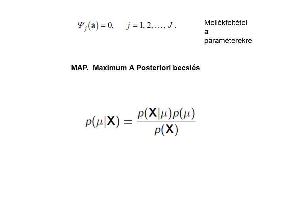 Mellékfeltétel a paraméterekre MAP. Maximum A Posteriori becslés