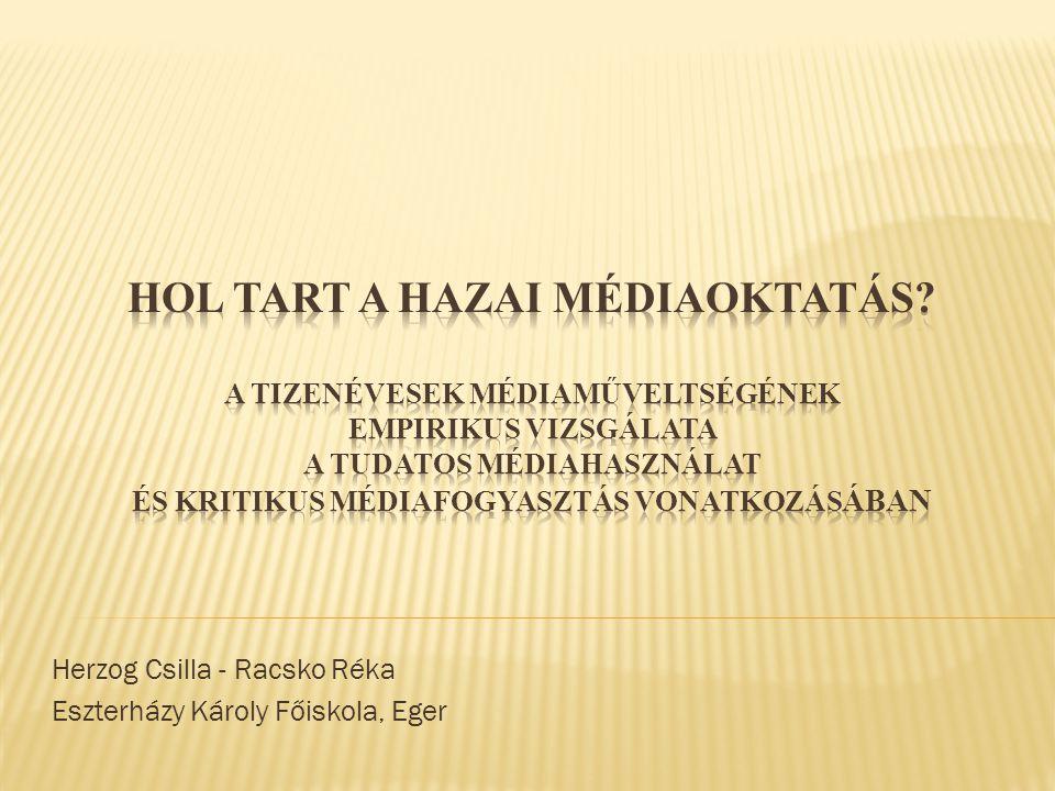 Herzog Csilla - Racsko Réka Eszterházy Károly Főiskola, Eger