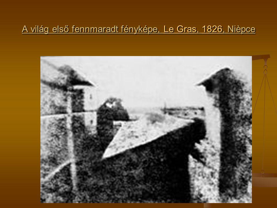 A világ első fennmaradt fényképe, Le Gras, 1826, Nièpce Le Gras1826Le Gras1826