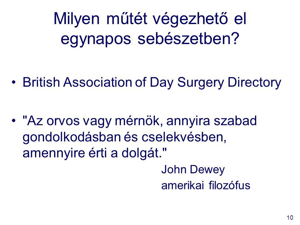 10 Milyen műtét végezhető el egynapos sebészetben.