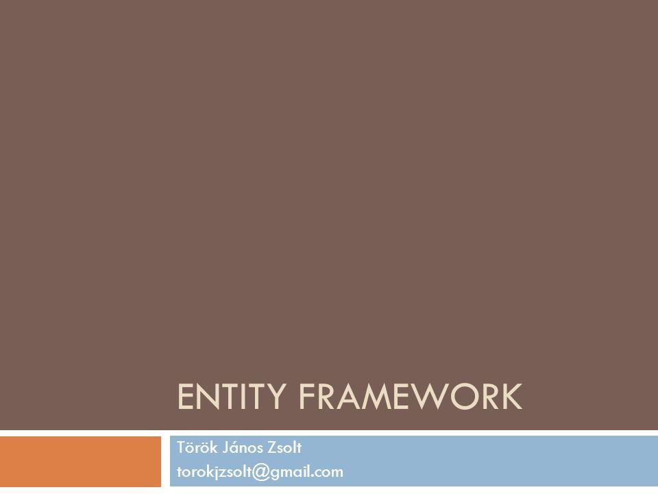 Entity Client Object Services EDM Az EF architektúrája