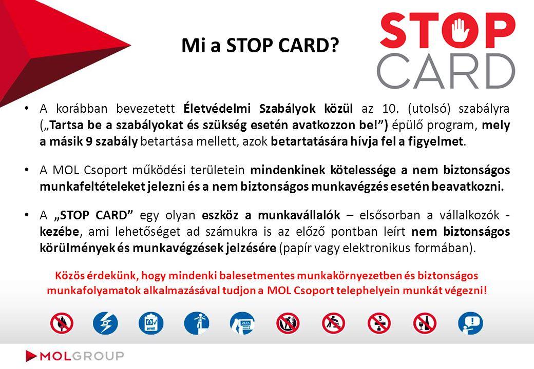 """Mi a STOP CARD? A korábban bevezetett Életvédelmi Szabályok közül az 10. (utolsó) szabályra (""""Tartsa be a szabályokat és szükség esetén avatkozzon be!"""