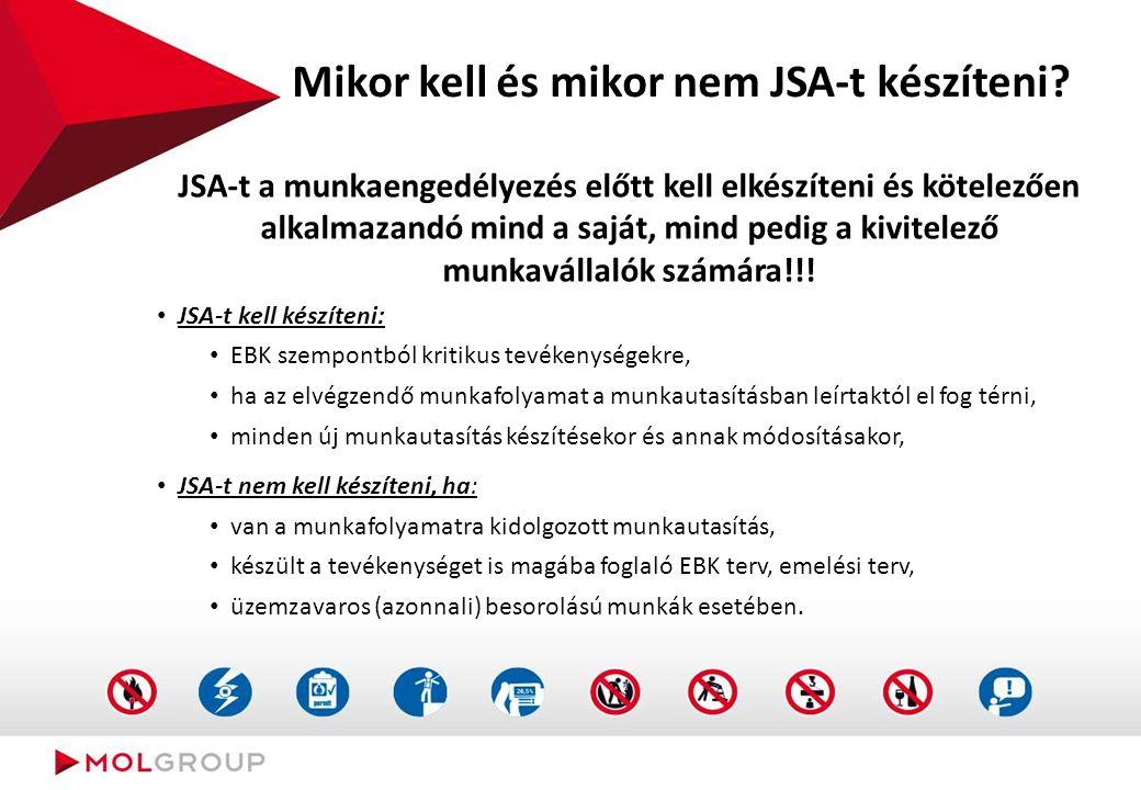 Szánjon rá időt, gondolja át a munkát, szükség esetén készítse el a JSA-t és az LMRA-t