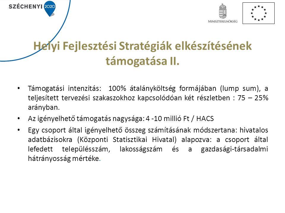 Helyi Fejlesztési Stratégiák elkészítésének támogatása II.