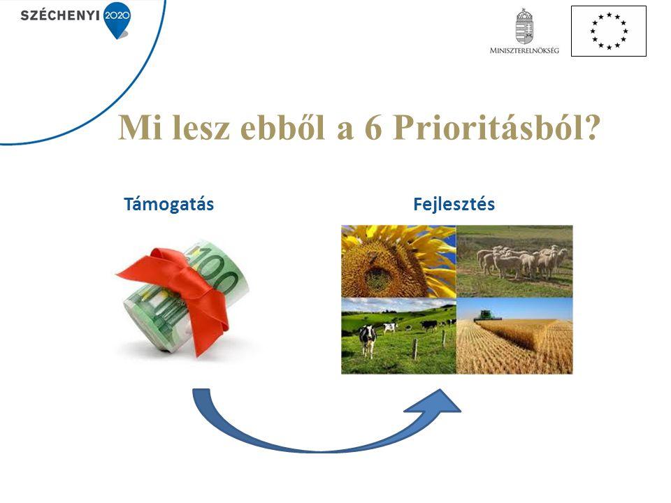 Mi lesz ebből a 6 Prioritásból? TámogatásFejlesztés