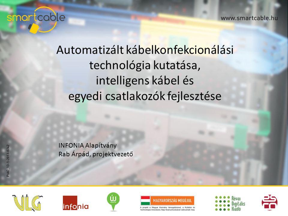 Automatizált kábelkonfekcionálási technológia kutatása, intelligens kábel és egyedi csatlakozók fejlesztése INFONIA Alapítvány Rab Árpád, projektvezető