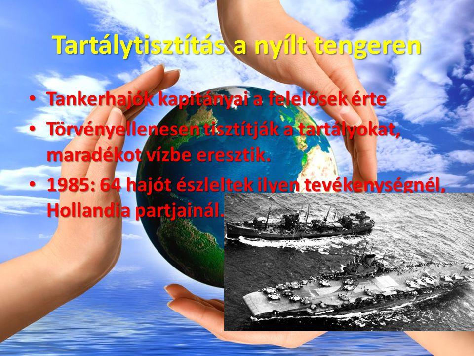 Tankerhajók balesete Drámai olajszenynezés Drámai olajszenynezés Olajtársaság presztízsét rombolja Olajtársaság presztízsét rombolja Drága a takarítás Drága a takarítás Kis odafigyeléssel a balesetek nagy %-a elkerülhető Kis odafigyeléssel a balesetek nagy %-a elkerülhető