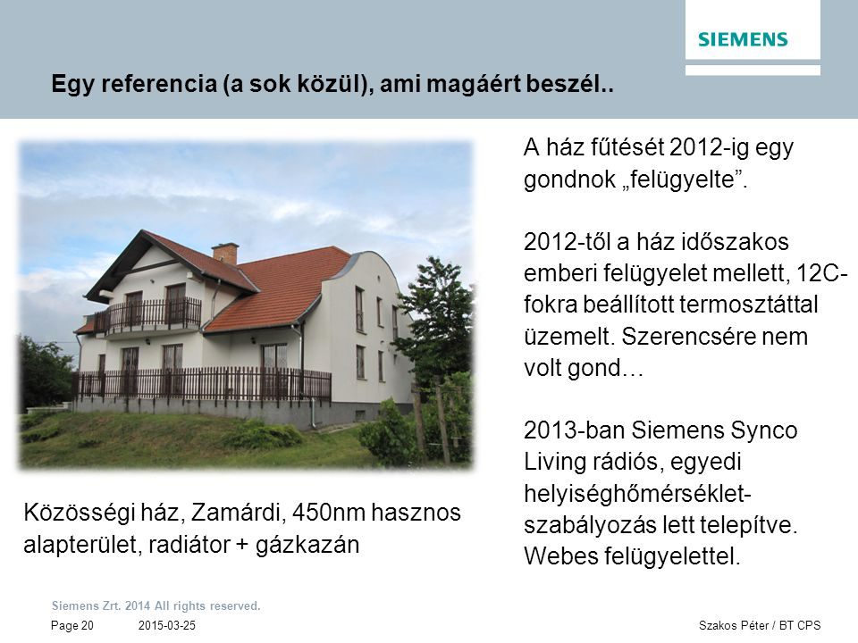 Siemens Zrt. 2014 All rights reserved.