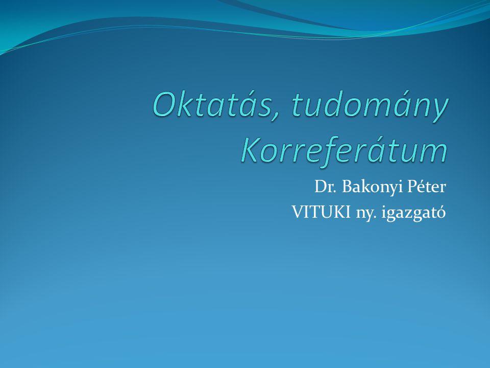 Dr. Bakonyi Péter VITUKI ny. igazgató
