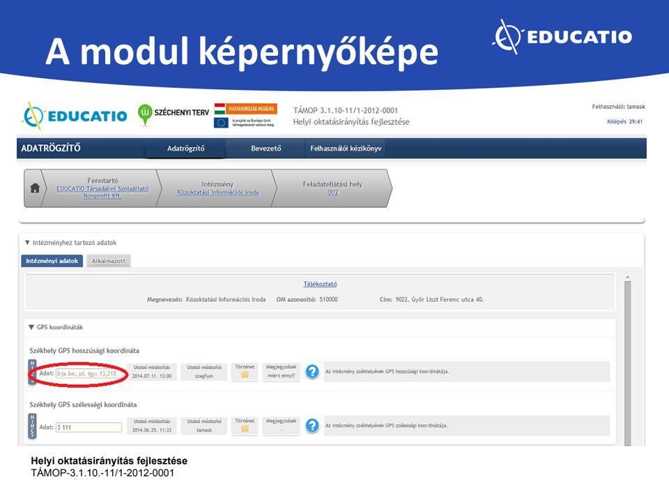 Köszöntő – Az oldalon az Oktatási Hivatal köszöntője, illetve egy rövid bevezető leírás olvasható az alkalmazásról.