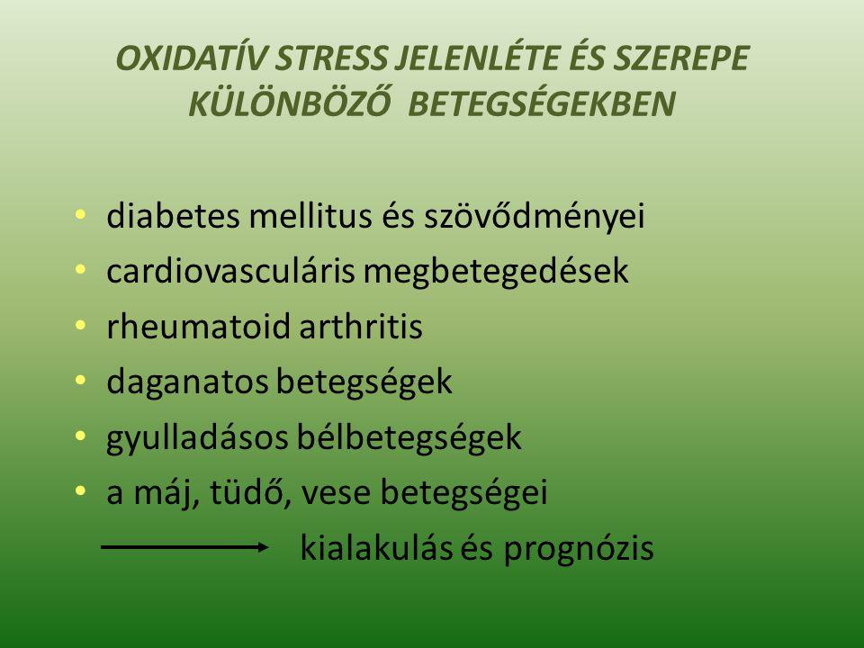 "Külföldi példa: ""Oxidative Stress Analysis 2.0 (Blood) CPT CODES: Cysteine82136 Glutathione82978 Glutathione, Peroxidase84311 Lipid Peroxides84311 Sulfate84311 Superoxide dismutase (SOD)84311 Total Antioxidant Capacity, TAC84311 https://www.gdx.net/product/nutreval-fm- nutritional-test-blood-urine https://www.gdx.net/learngdx/ report-review/ox-stresswww.gdx.net/learngdx/ report-review/ox-stress"