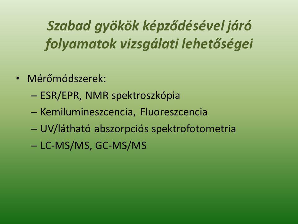 Karboxilált fehérjék és a redukált gluthation (GSH) vizsgálata az egyes betegségekben K.D.Jakob et al.: Markers of oxidant stress that are clinically relevant in aging and age-related disease.Mechanisms of Ageing and Development 134 (2013) 139–157