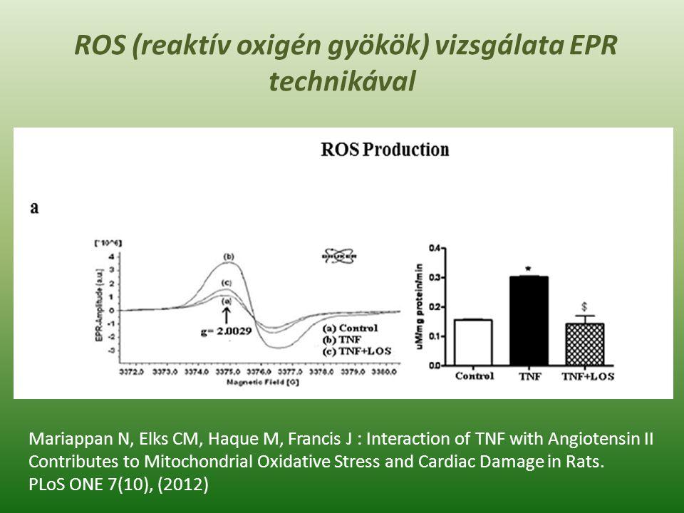TBARS, 8-OHdG és TAS biomarkerek, mint lehetséges diagnosztikus paraméterek jellemzői D.