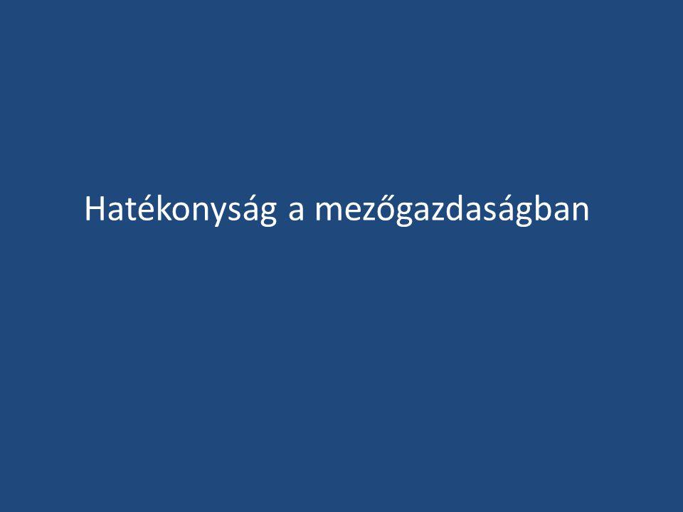 A gazdasági szervezetek száma a szántóterület nagyságkategóriái szerint 2012-ben