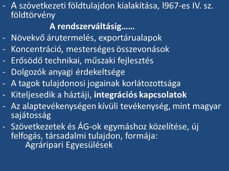 -A szövetkezeti földtulajdon kialakítása, l967-es IV.
