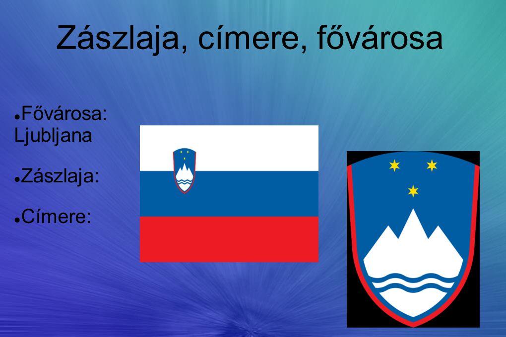 Zászlaja, címere, fővárosa Fővárosa: Ljubljana Zászlaja: Címere: