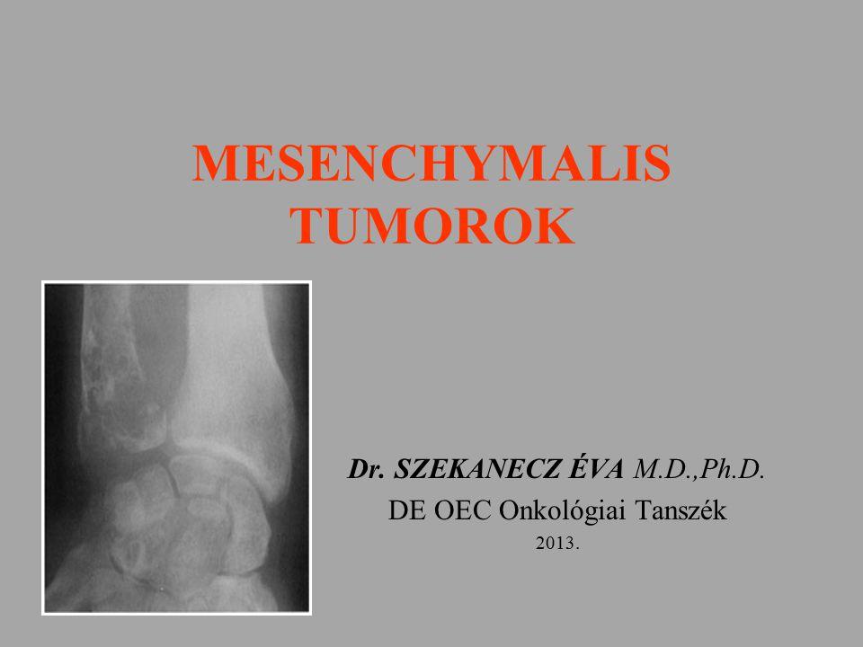 MESENCHYMALIS TUMOROK Dr. SZEKANECZ ÉVA M.D.,Ph.D. DE OEC Onkológiai Tanszék 2013.