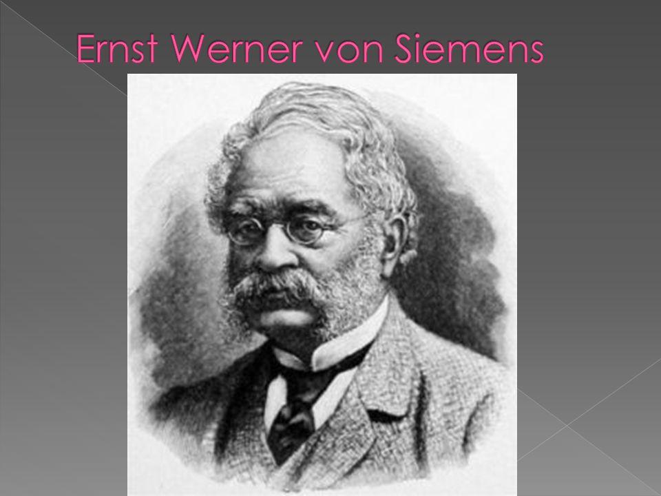 Kifejlesztett többek között  egy új szabályozót a gőzgéphez  egy prést a műkőgyártáshoz  valamint Johann Georg Halskével együtt tökéletesítette a távírót  Jedlik Ányostól függetlenül felfedezte a dinamóelvet  Tervei szerint épült az első villamos vasút.