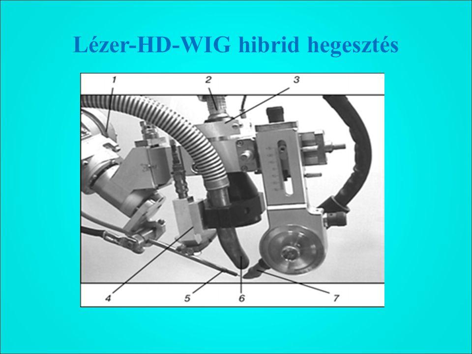 Lézer-HD-WIG hibrid hegesztés