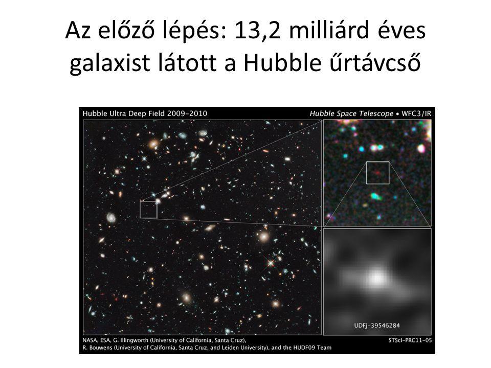Az előző lépés: 13,2 milliárd éves galaxist látott a Hubble űrtávcső