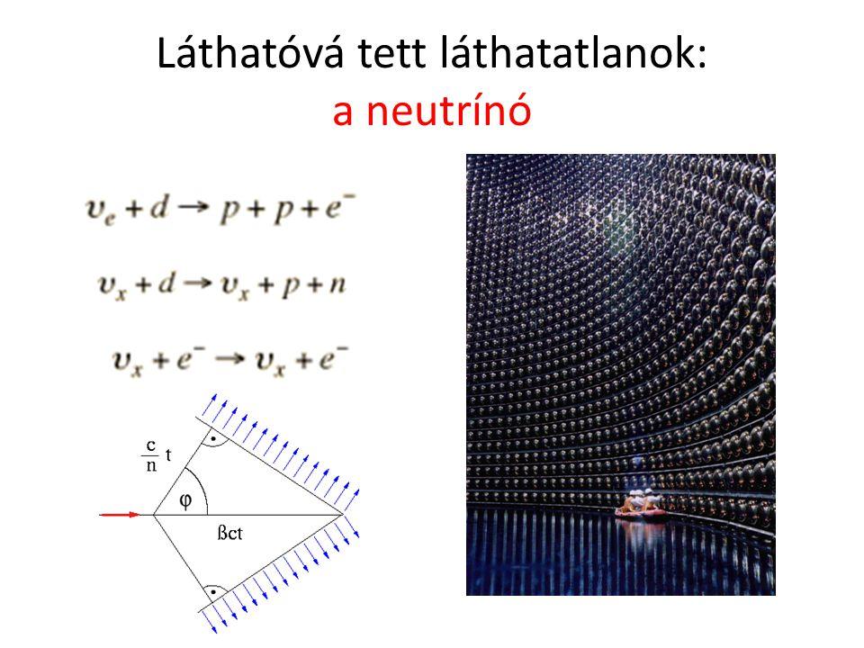 Láthatóvá tett láthatatlanok: a neutrínó