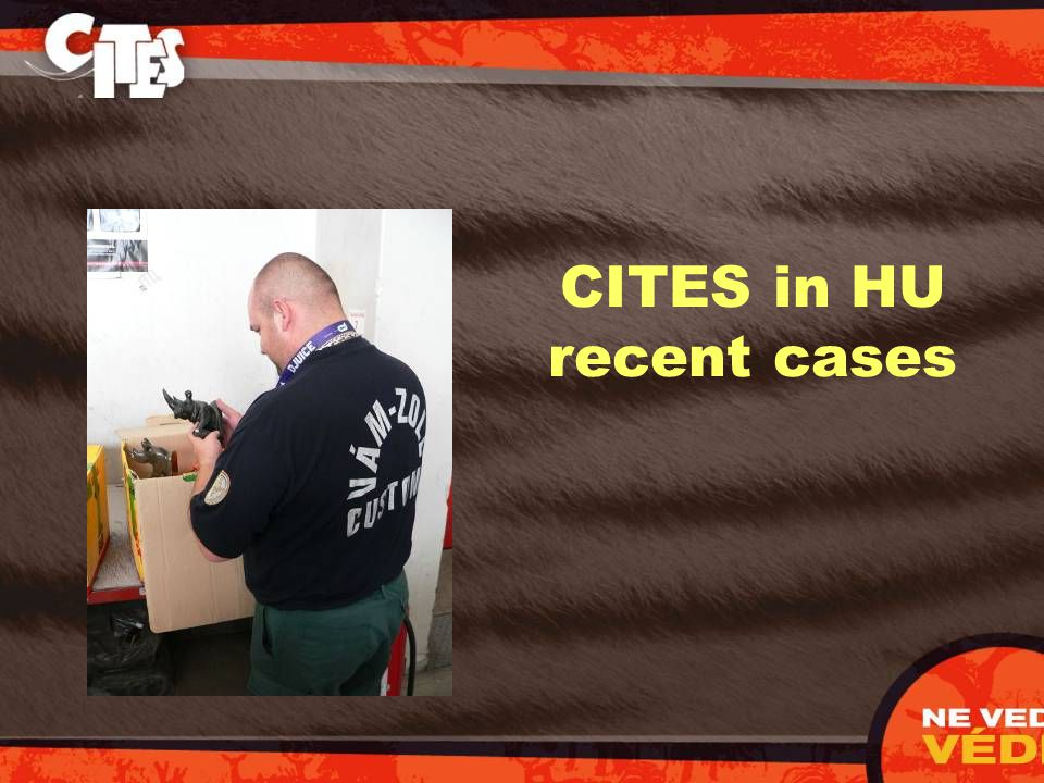 CITES in HU recent cases