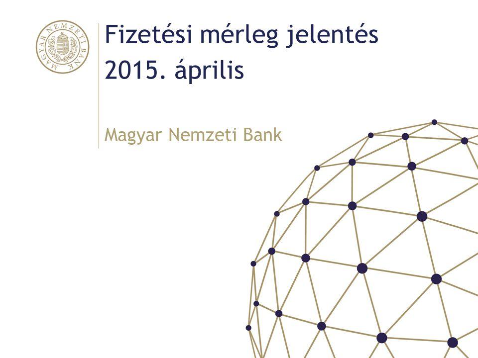 Fő üzenetek Magyar Nemzeti Bank A külső finanszírozási képesség az előző évi magas szintről tovább emelkedett (2014: 8,3%, folyó fizetési mérleg 4,1%) A nettó működőtőke beáramlás mellett folytatódott a külföldi hitelek visszafizetése (2014: 6 milliárd euro) A külső adósságráták tovább mérséklődtek A háztartások portfólió-átrendezésének jelentős a hatása – lassuló banki forráskiáramlás, állam csökkenő külső adóssága, portfólió-részvény követelés emelkedése Állam külső adósságának csökkenését az MNB intézkedései is erősítették (önfinanszírozás, MNB-kötvény betétesítése) A külső adósság a csökkenés ellenére meghaladja a régiós szintet, és a bruttó finanszírozási igény továbbra is magas 2