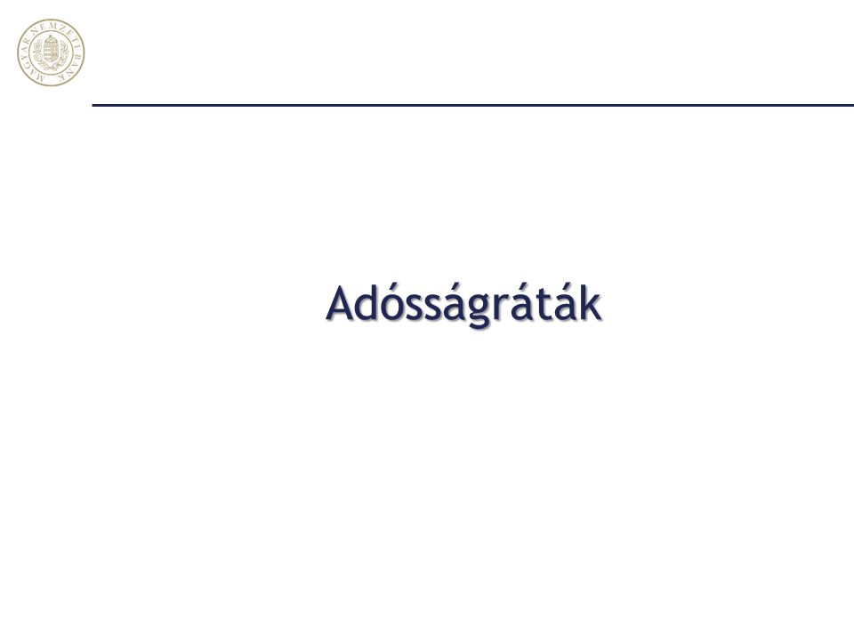 További mérséklődés a nettó külső adósságban … Magyar Nemzeti Bank 15 Tulajdonosi hitel nélkül, GDP arányában